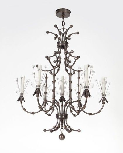 The Contessa Chandelier Shown In Duquette Rubbed Bronze From Tony By Remains Lighting