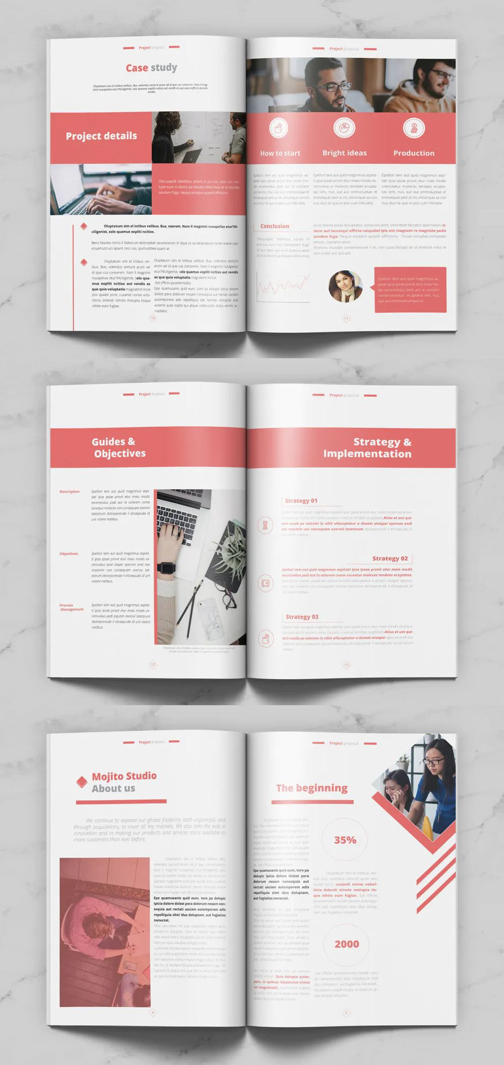 Project Proposal Brochure Template in 2020 Project