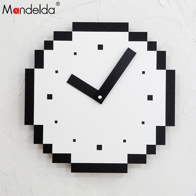 Tebery Silent Modern Quartz Flower Design Decorative Wall Clock Non-Ticking Digi