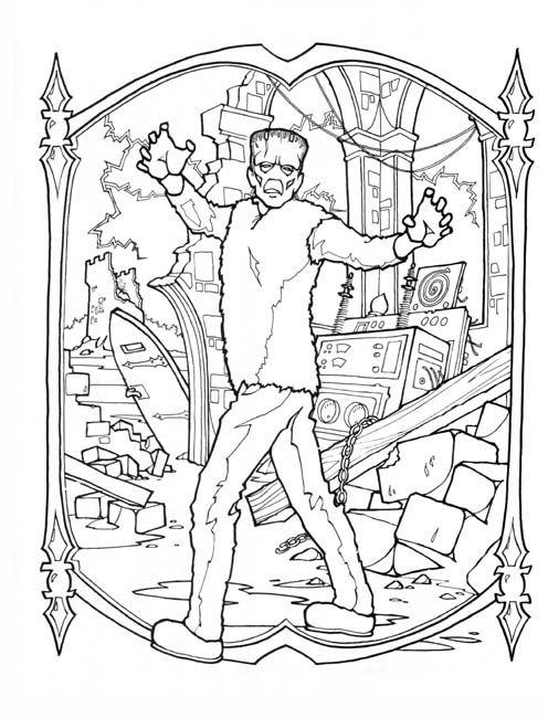 frankenstein coloring page - Frankenstein Coloring Page