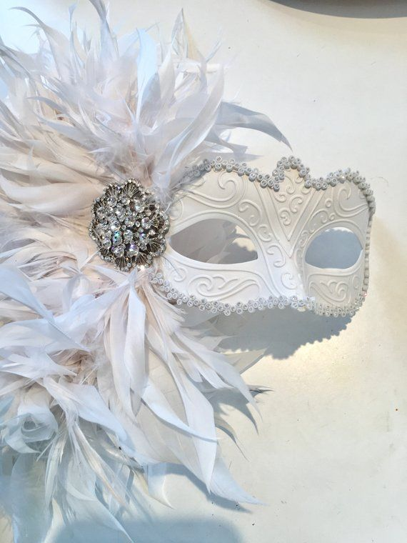 Mardi Masquerade Party White Masks With Flower Weddings Ladies Halloween