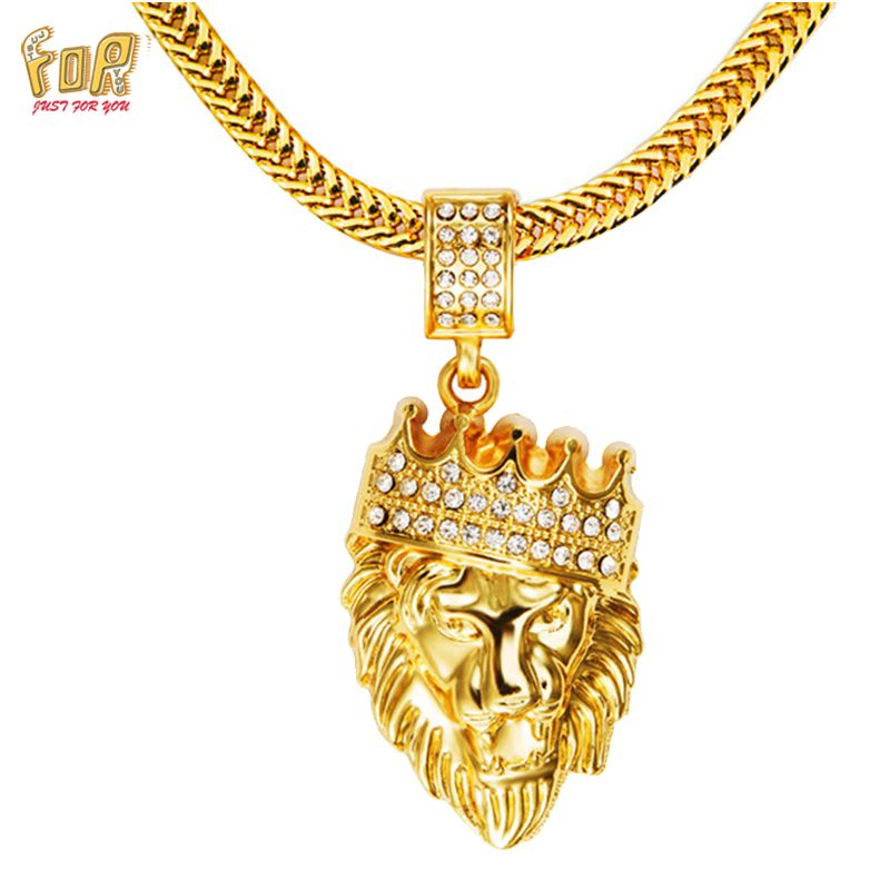 Jfy mens hip hop jewelry iced out 18 k gold plated lion head cheap men necklace gold buy quality fashion necklace directly from china necklace fashion suppliers nyuk mens hip hop jewelry iced out gold fashion bling aloadofball Images