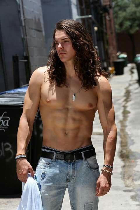 Brown-hair gay hot male underwear img