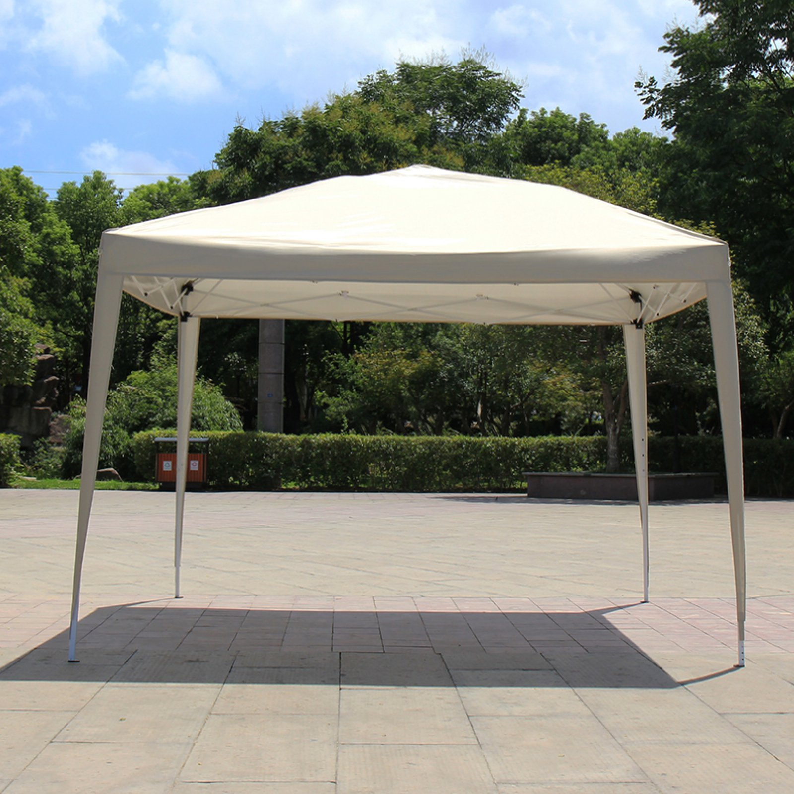 Baner Garden 10 X 10 Ft Easy Folding Instant Pop Up Gazebo Canopy Tent Beige Products In 2019 Gazebo Gazebo Canopy Canopy Tent