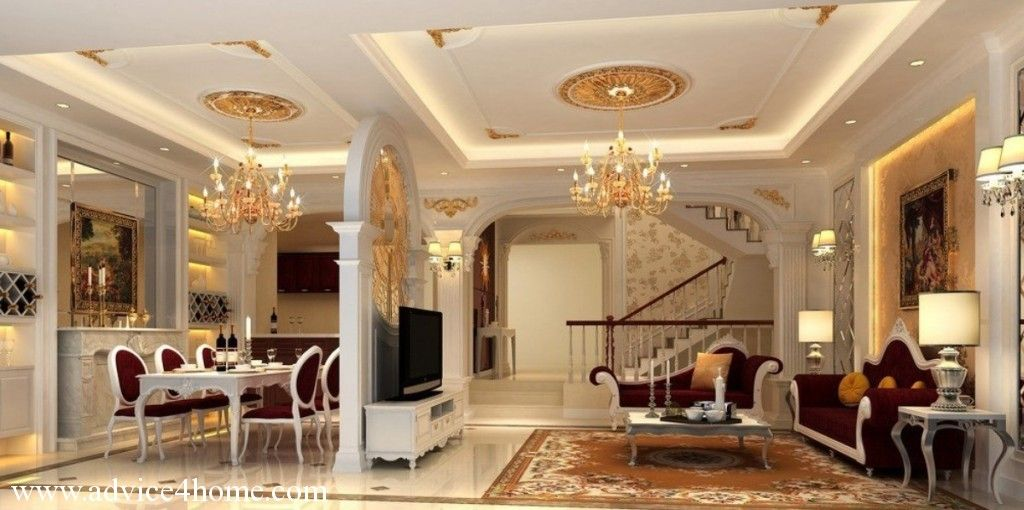 White decorative ceiling wall paper | Pop Ceiling Designs For Living ...