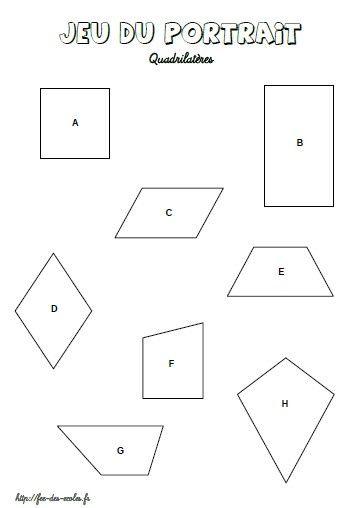 Les quadrilatères CE2-CM1-CM2   Quadrilatère, Ce2 cm1 et Cm1 cm2