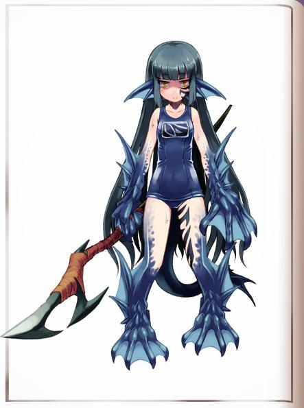 Sahuagin Monster girl encyclopedia wiki, Monster musume