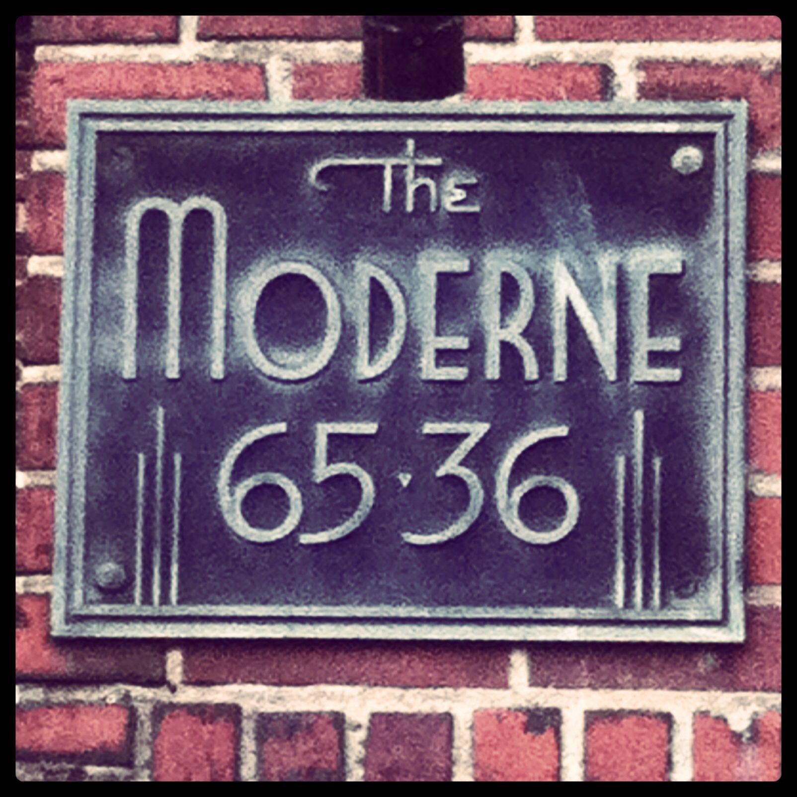 The Moderne - vintage NYC apartment building sign - built 1941 ...