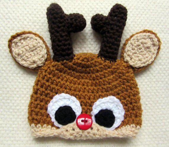 Crochet Reindeer Hat f7acd60cec7