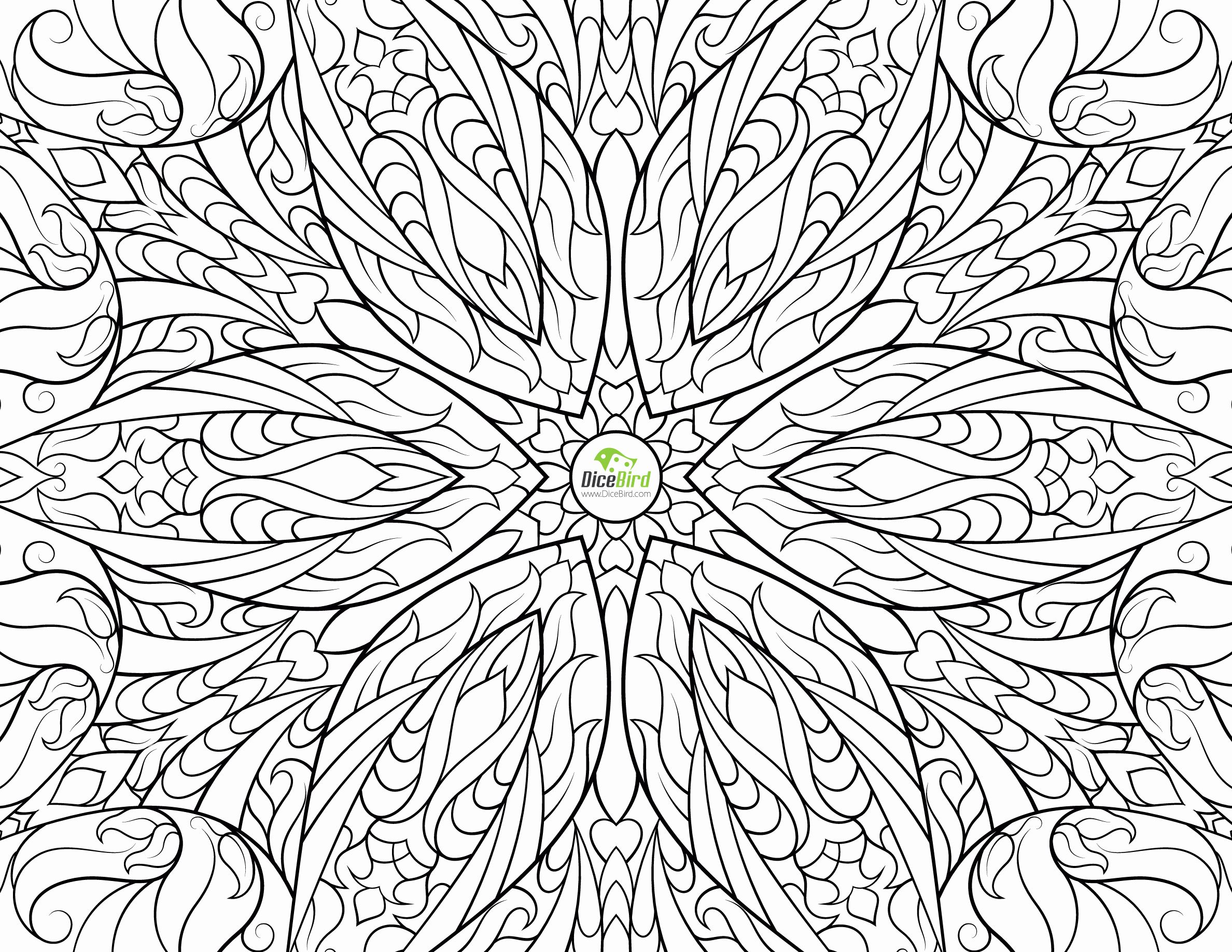 Hard Flowers Coloring Pages - Coloring Home | 1836x2376