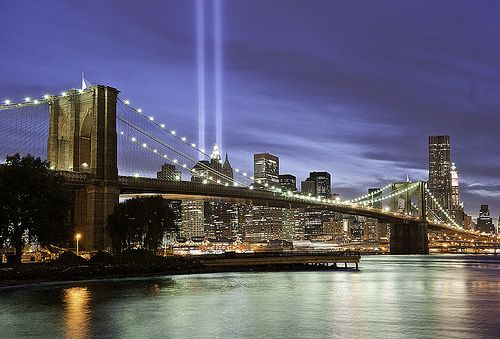 9 11 Memorial Lights Nyc With Images New York City Travel Bridge Wallpaper New York City