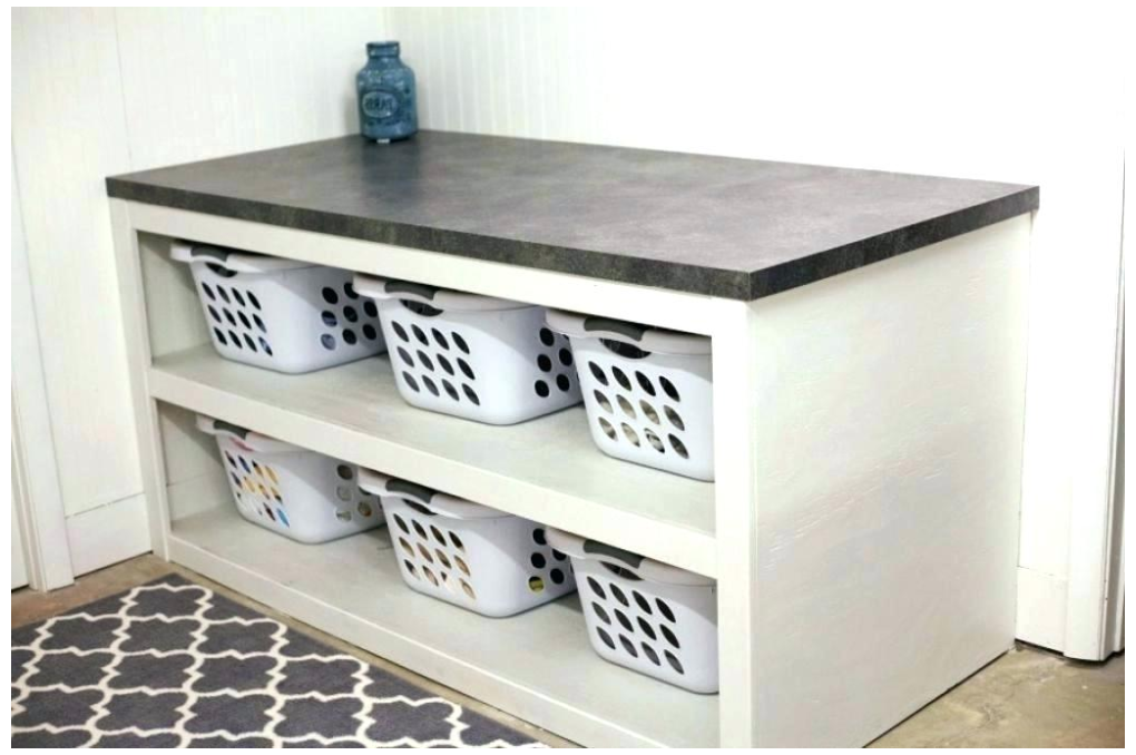 Laundry Room Table Folding With Storage Laundry Room Table