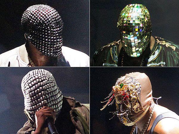Kanye West S Masks For His Yeezus Tour Certainly Bring The Bling Kanye West Mask Margiela Mask Yeezus