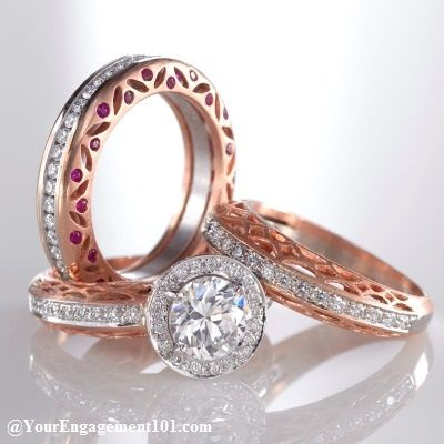 love the two tone and the pink stones on the side