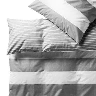 SKYLINE Bettw Streifen grau 135x200 - Textilien Ideen - schöne farben für schlafzimmer