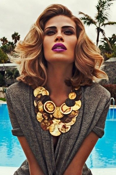 Gold statement #necklace