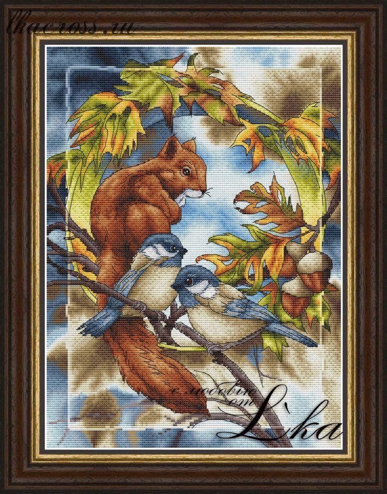 Вышивки крестом картинки леса
