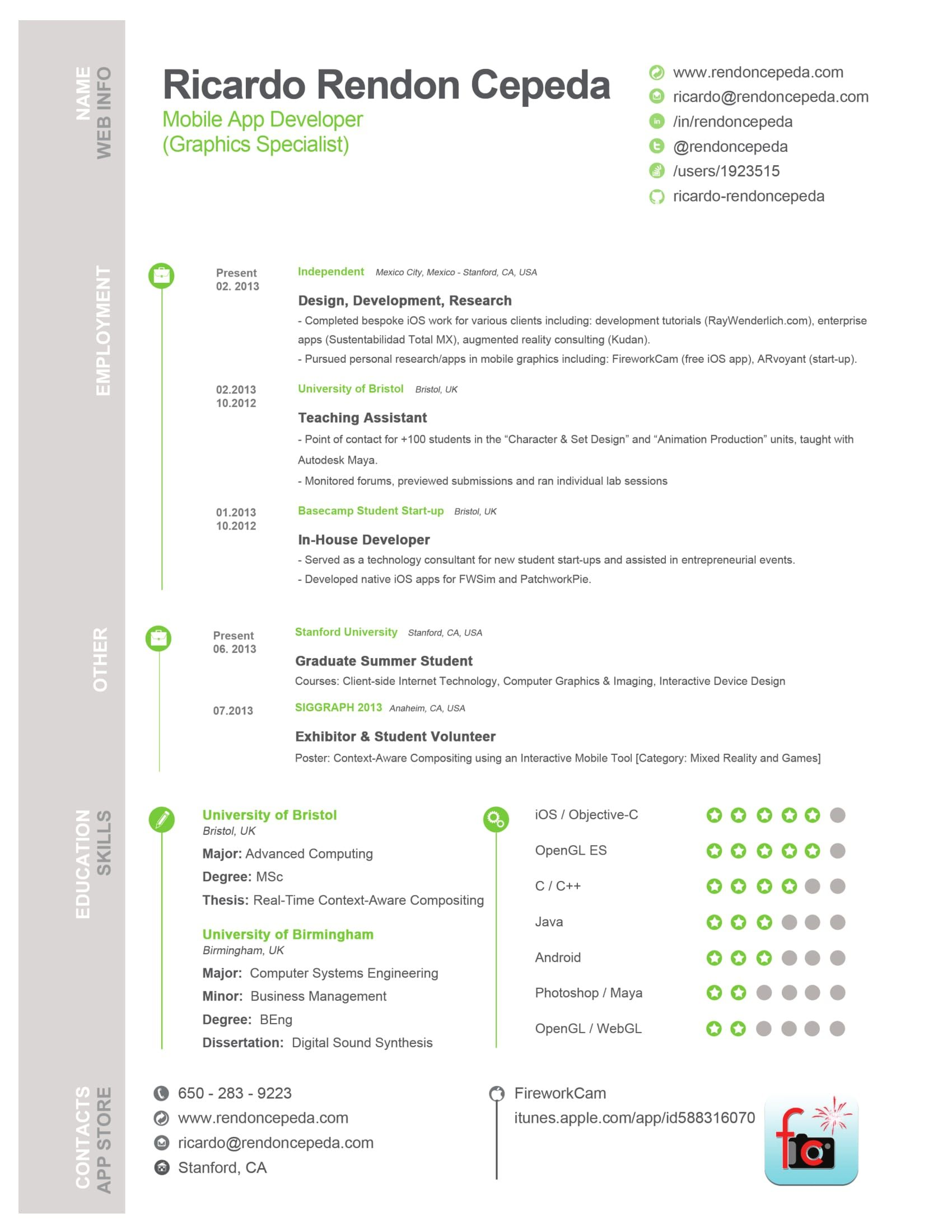 mobile app developer resume Resume templates, Resume