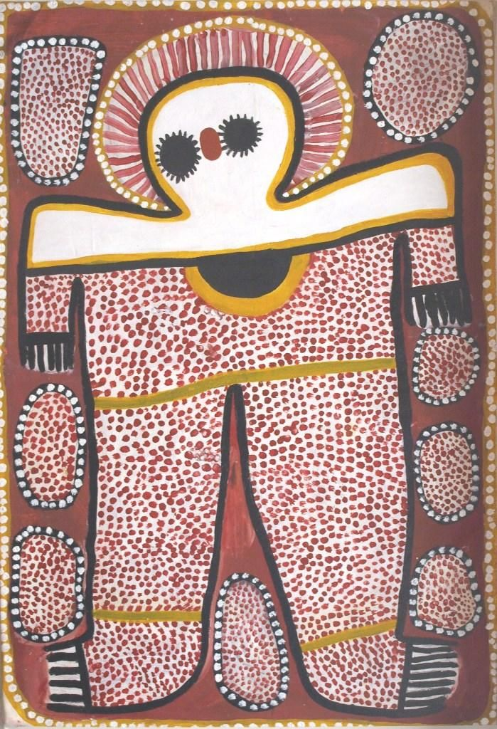 Here is another fine piece of Aboriginal Art by Lily Karadada / Wandjina is the title of the work. Click the painting to view more details and lots more incredible artworks from these amazingly talented artists. Thanks