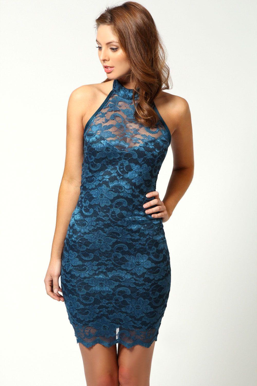 Elisa sweetheart halterneck lace dress style pinterest lace