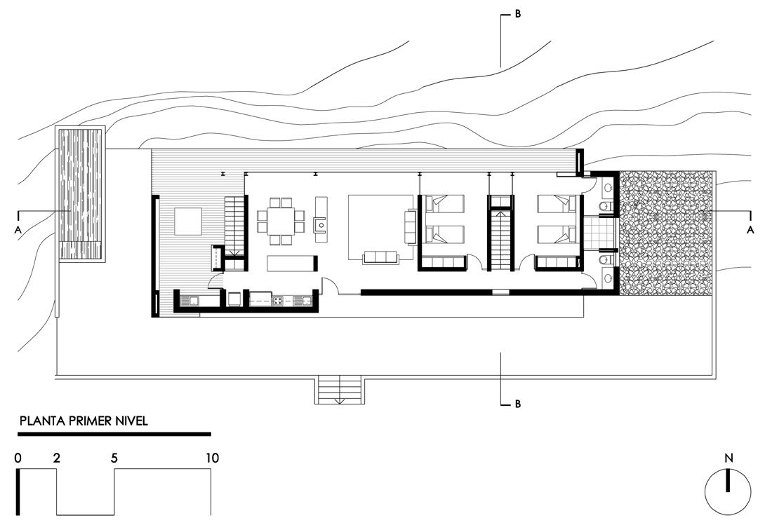 Casa en tunqu n rodrigo aguilar blog y arquitectura for Minimalistisches haus grundriss