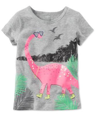8eb3abb6 Carter's Dinosaur Graphic-Print Cotton T-Shirt, Toddler Girls (2T-4T ...
