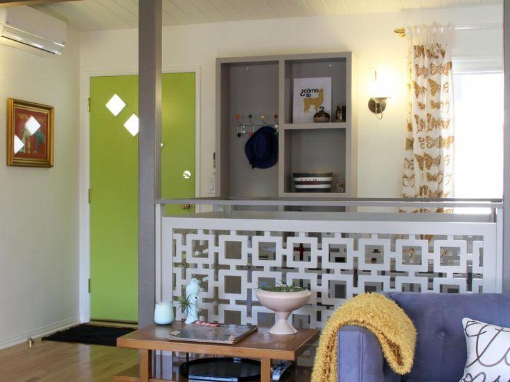 Image result for mid century modern room divider half wall Mid