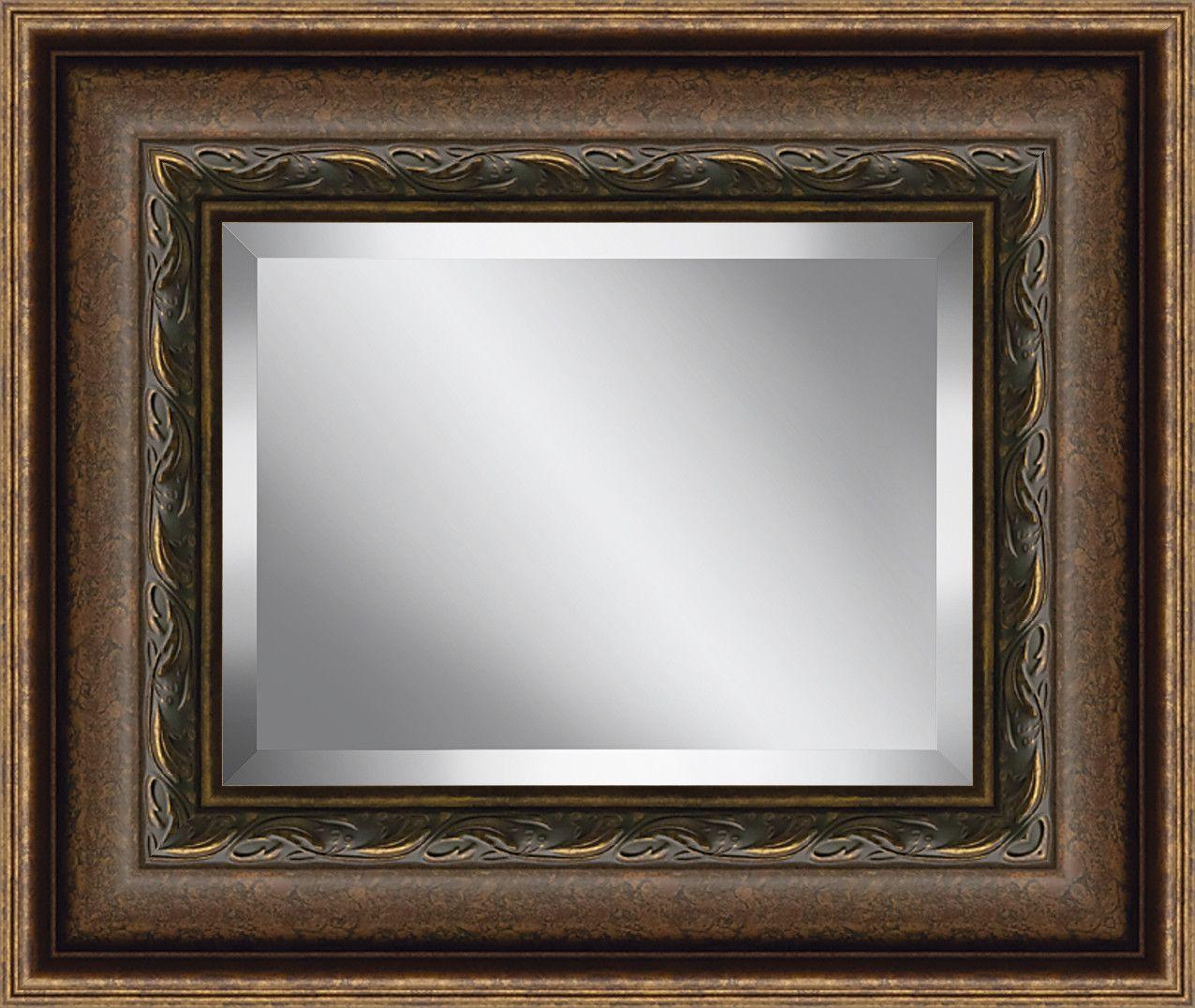 Rectangle Framed Beveled Plate Glass Mirror