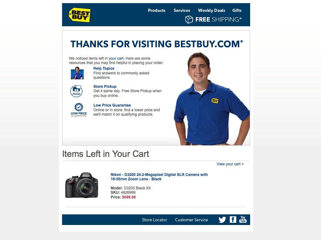 best buy abandoned cart email abandoned cart emails pinterest email design. Black Bedroom Furniture Sets. Home Design Ideas