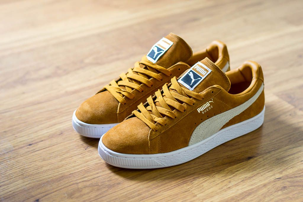 9b2c3e9339 Check out this pickup video of the Puma Suede Classic Inca Gold. Find out  where you can still buy a pair of these Puma Suedes online!