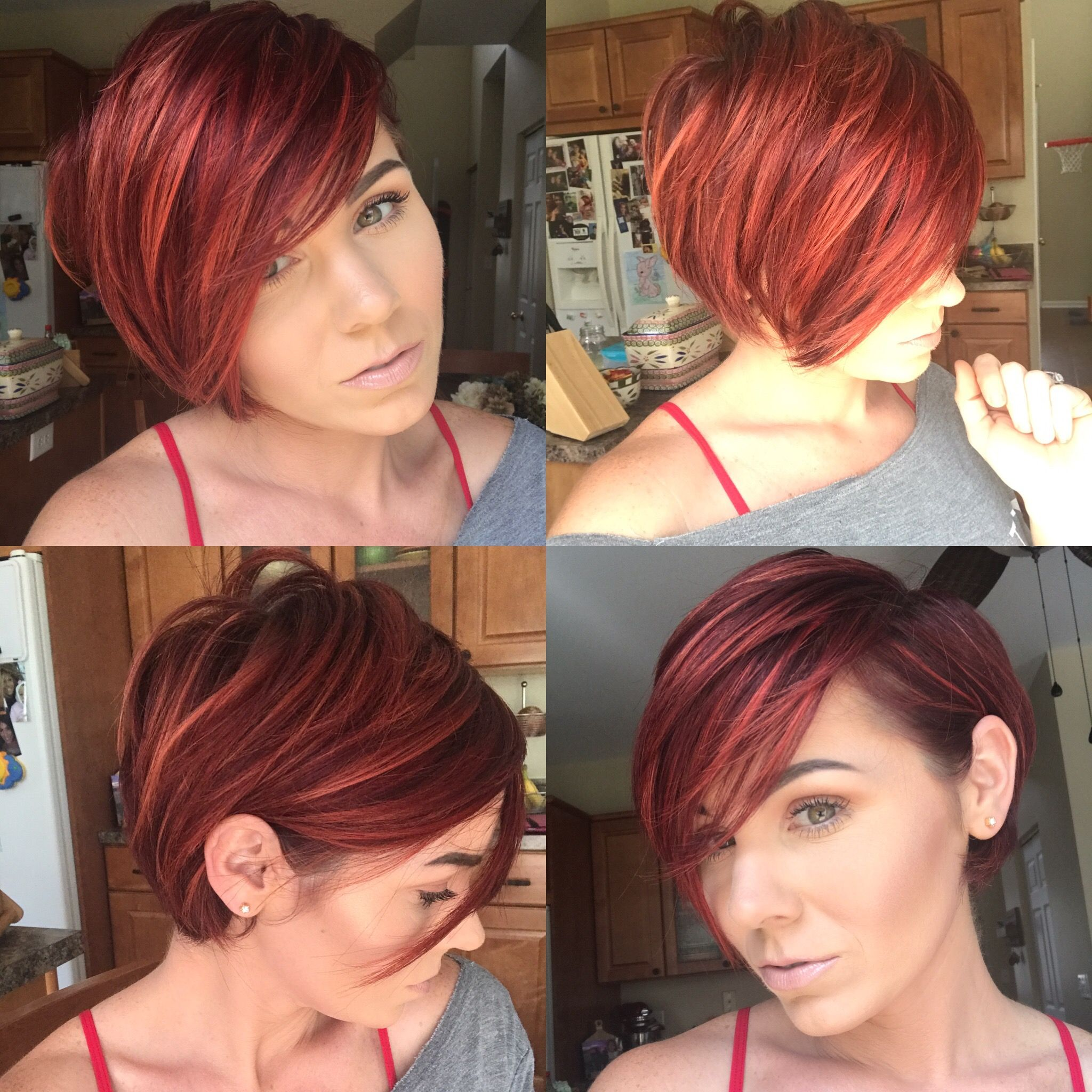 redhair #pixie #bob #shorthair | hairstyles/inspiration in