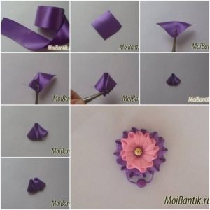 How To Make Ribbon Button Flower Step By Step Diy Tutorial