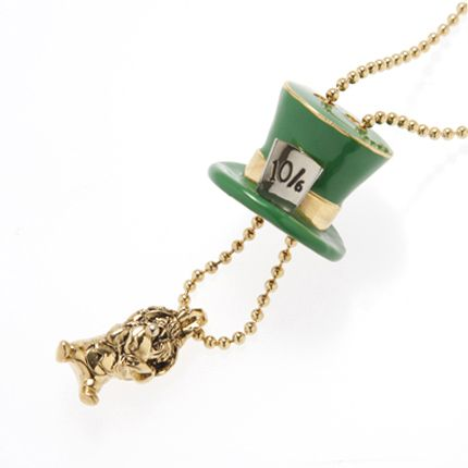 Someday, I will own a Q-pot Alice necklace and ring! The Dormouse-Necklace (Antique Gold)