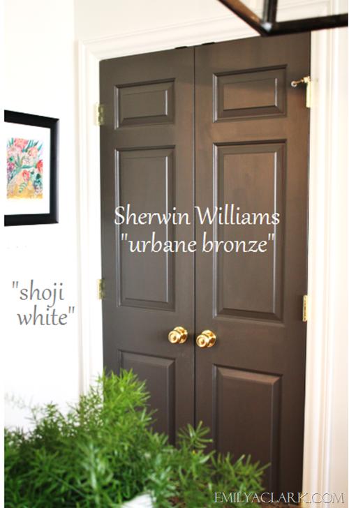 Favorite kitchen cabinet paint colors shoji white doors for Sherwin williams cabinet paint