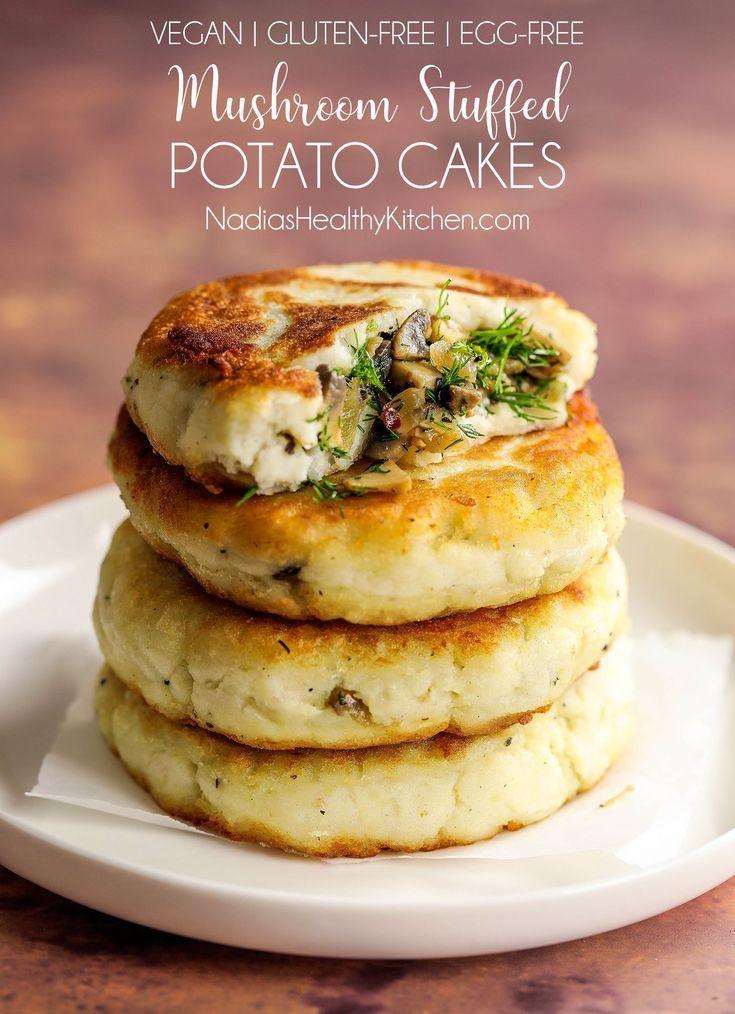 Photo of Mushroom Stuffed Potato Cakes – UK Health Blog – Nadia's Healthy Kitchen