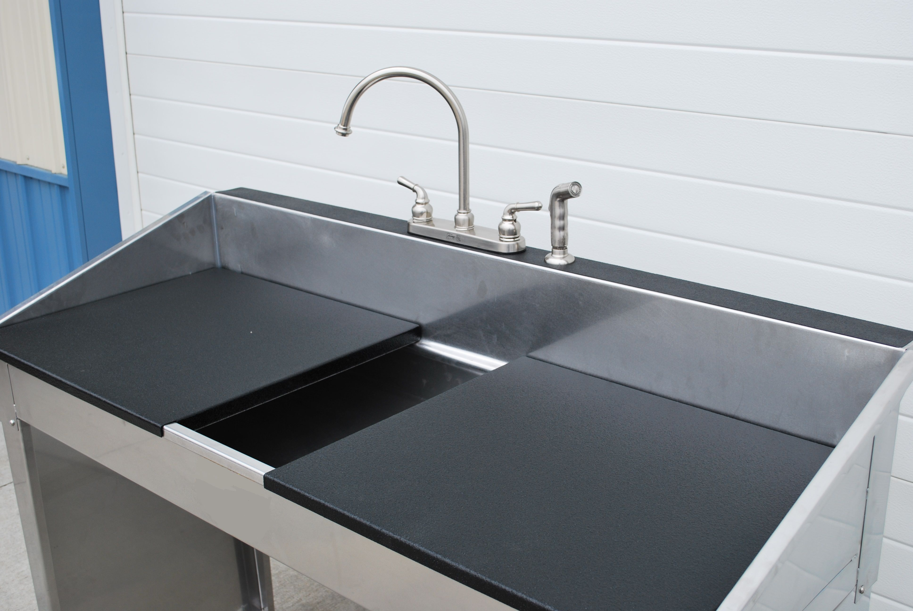 custom best utility sink made with two
