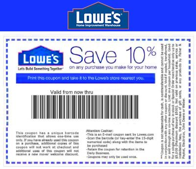 photograph about Lowes 10% Printable Coupon called Printable Lowes Coupon 20% Off 10 Off Codes December 2016