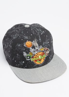 Kick it old-school in this graphic snapback. Featuring your favorite  characters from the movie  Space Jam  in star constellations 9d909d3b3b85