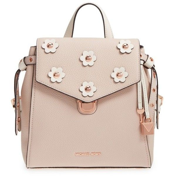 c0e730277b6a Women's Michael Michael Kors Small Flower Embellished Leather Backpack  ($246) ❤ liked on Polyvore featuring bags, backpacks, michael kors backpack,  ...