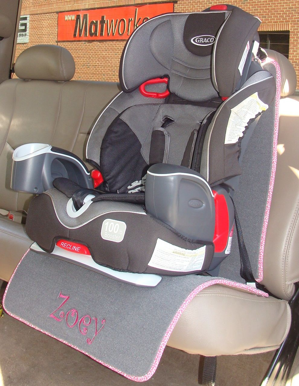 Auto Seat Protector for Child / Baby Seat - Full Length | Seat ...