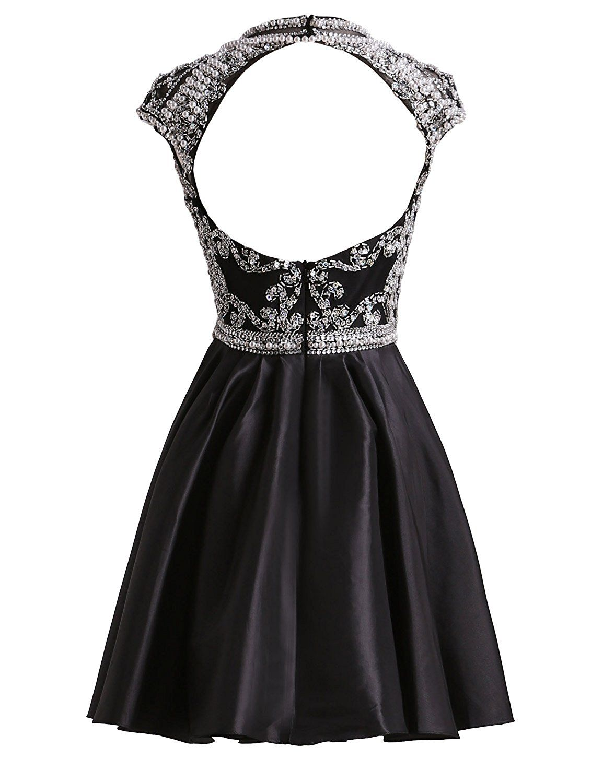 efba484f498 LovingDress Women s Homecoming Dresses Taffeta Open Back Sexy Short Prom  Dresses at Amazon Women s Clothing store