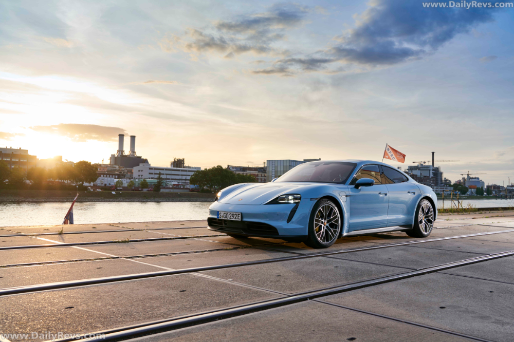 2020 Porsche Taycan 4S Frozen Blue Metallic Dailyrevs