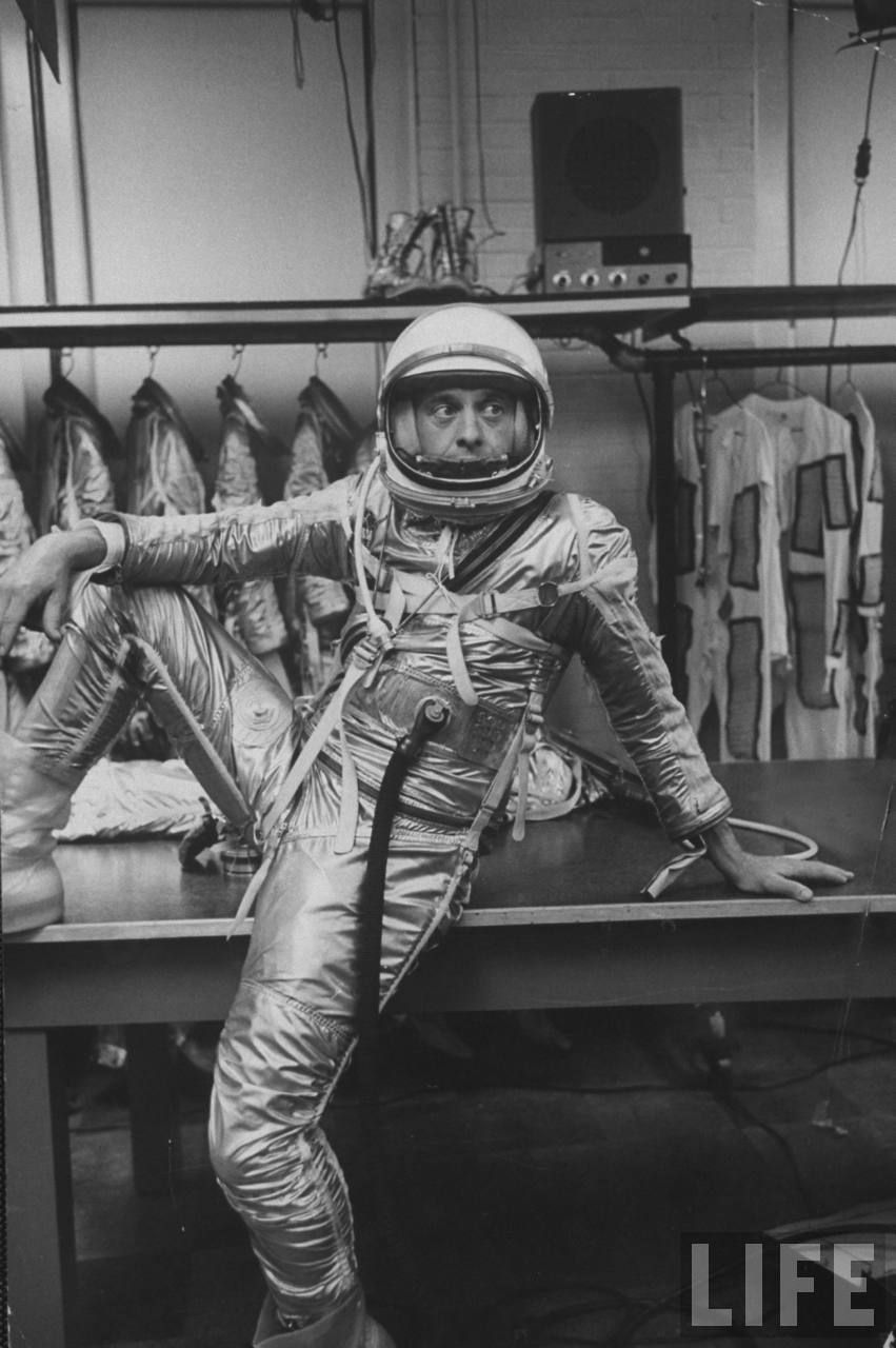 Astronaut Alan B. Shepard in space clothing. Location: US Date taken: March 1961 Photographer: Ralph Morse