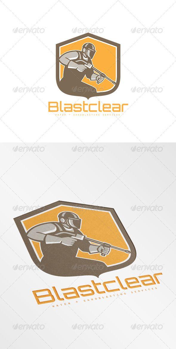 Logo Pressure Washing : pressure, washing, Blastclear, Waterblastiung, Services, Humans, Templates, Service, Logo,, Design, Template,, Human