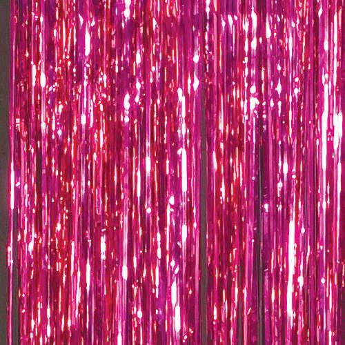 Hot Pink Foil Curtains Pink Aesthetic Foil Curtain Party Background