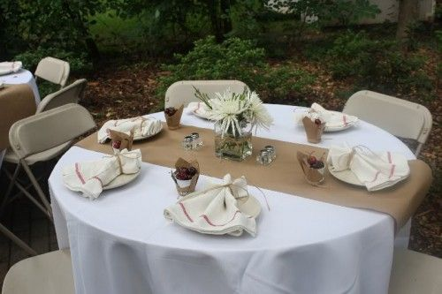 Round Table Centerpieces, Round Paper Table Covers White