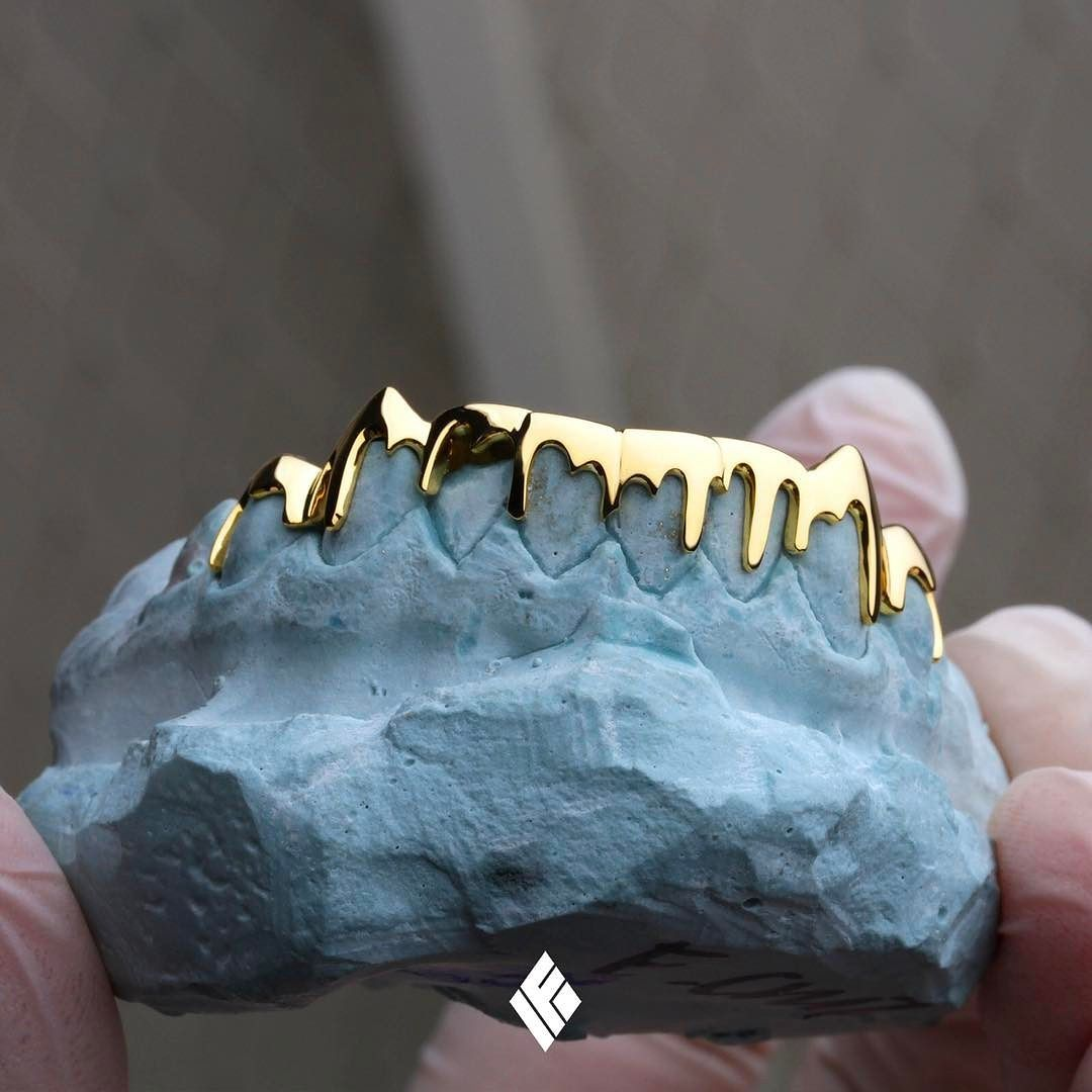 Solid 14K Gold Drip Grill. Completely customizable to your liking. Now  available at www.IFANDCO.com!  Grillz  CustomJewelry  IFANDCO e38f258752