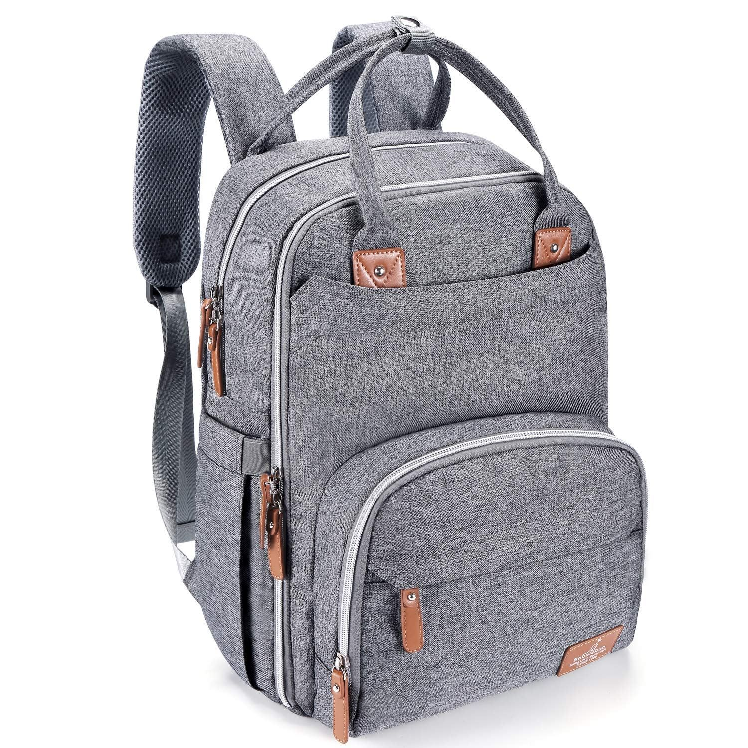 Diaper Bag for Men Dad Nappy Bag Backpack Large Canvas Waterproof USB Mommy Bag for Baby Care Travel