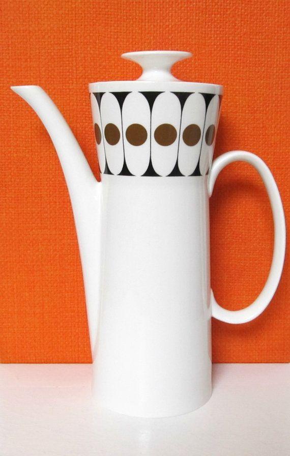 Vintage 1960s Black Velvet coffee pot John Russell by GoodsGarb, £12.00