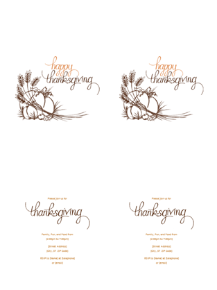 Blank Thanksgiving Invitations  Google Search  Thanksgiving